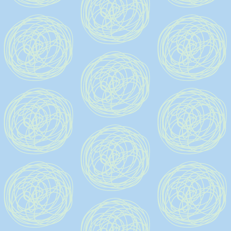 tumbleweed (sky blue + sea glass) fabric by pattyryboltdesigns on Spoonflower - custom fabric