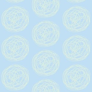 tumbleweed (sky blue + sea glass)