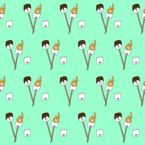 Kawaii Marshmallows fabric by jenax on Spoonflower - custom fabric