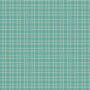 sea foam - plaid