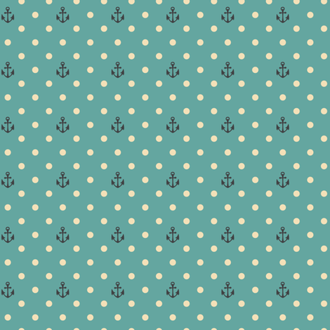 SEA FOAM - PIN DOT - ANCHOR fabric by sailormouth on Spoonflower - custom fabric