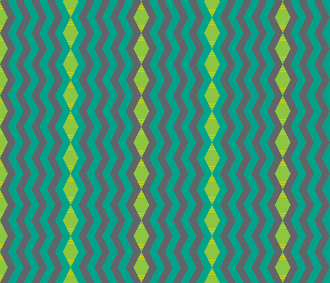 Funky Urban Zig Zag Stripe fabric by modgeek on Spoonflower - custom fabric