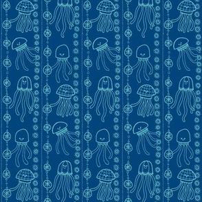 jellyfish stripes blues