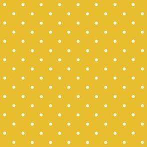 Mustard yellow mini polka dots