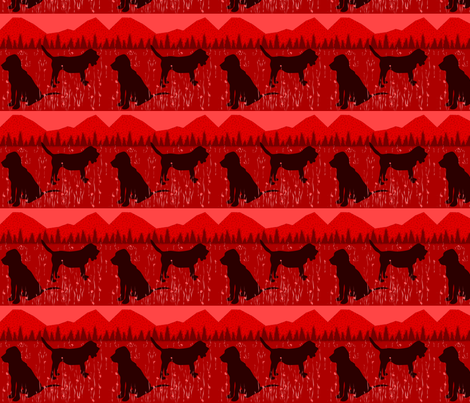 Red Bloodhound fabric by ninjaauntsdesigns on Spoonflower - custom fabric