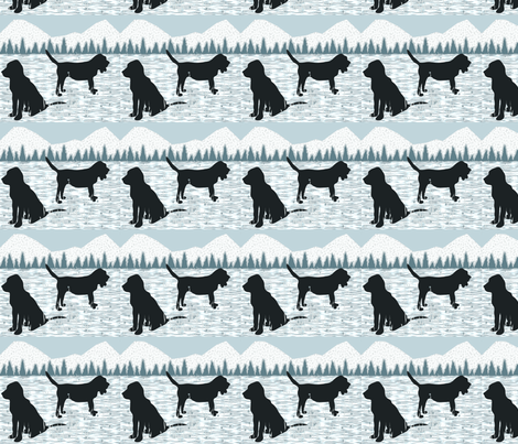 White Bloodhounds fabric by ninjaauntsdesigns on Spoonflower - custom fabric