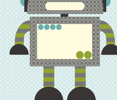 Robot Wall Decal fabric by natitys on Spoonflower - custom fabric