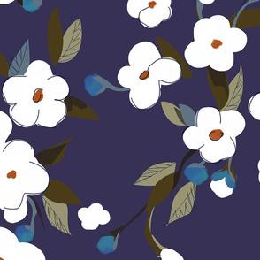 White Flowers - large