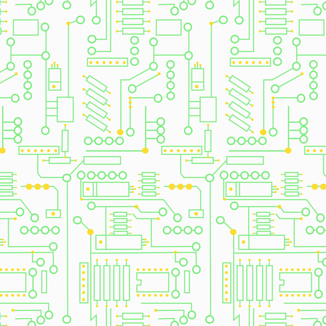 Circuits (Beep Boop Bop collection) fabric by meg56003 on Spoonflower - custom fabric
