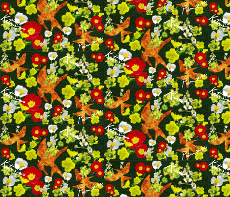 Katniss Primrose & Rue fabric by marchhare on Spoonflower - custom fabric