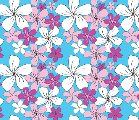 Pink Bouquet fabric by jjtrends on Spoonflower - custom fabric