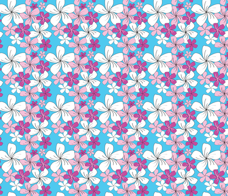Pink Bouquet (small) fabric by jjtrends on Spoonflower - custom fabric