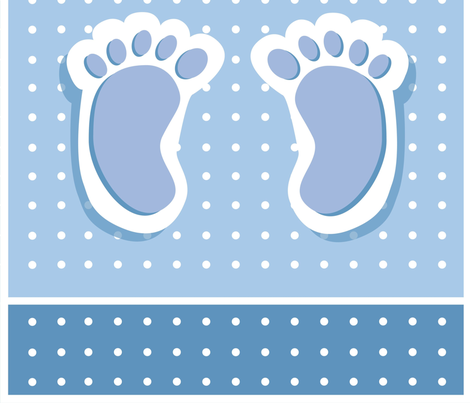 Baby Boy Feet fabric by twosister42 on Spoonflower - custom fabric