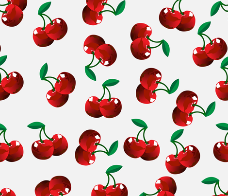 Cherries fabric by twosister42 on Spoonflower - custom fabric