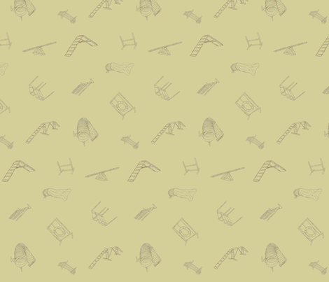 Dog Agility Equipment - khaki fabric by rusticcorgi on Spoonflower - custom fabric