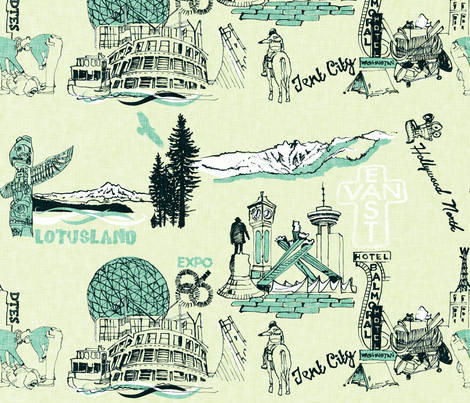 My Vancouver Includes the Downtown Eastside fabric by locamode on Spoonflower - custom fabric