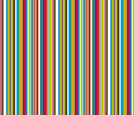 Retro Mult-Stripes 1 fabric by stitchwerxdesigns on Spoonflower - custom fabric