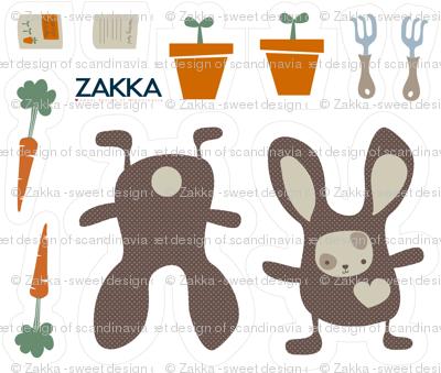 FQ - Springtime Bunny, zakka style