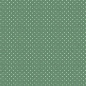 Green big zakka polka dot