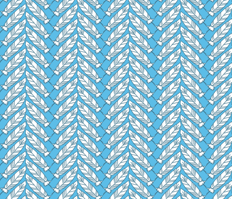 Feathers fabric by siya on Spoonflower - custom fabric