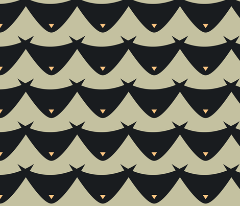 Meow fabric by dorothyjeanne on Spoonflower - custom fabric