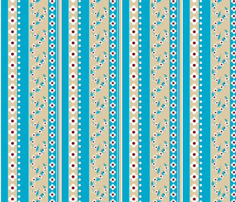Love Letter Flower Stripe fabric by siya on Spoonflower - custom fabric