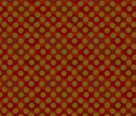 Medallion1000_Ruddy fabric by glimmericks on Spoonflower - custom fabric