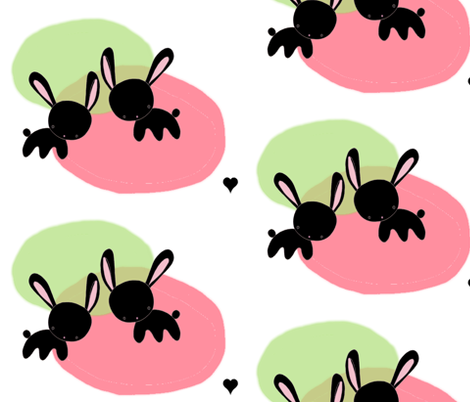 bunny_love fabric by blossomnbird on Spoonflower - custom fabric