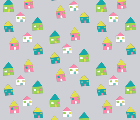 little_houses3 fabric by blossomnbird on Spoonflower - custom fabric