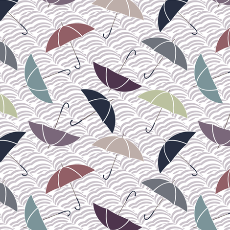 Umbrellas fabric by demigoutte on Spoonflower - custom fabric
