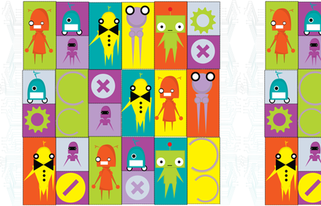 cutiebots fabric by karmacranes on Spoonflower - custom fabric