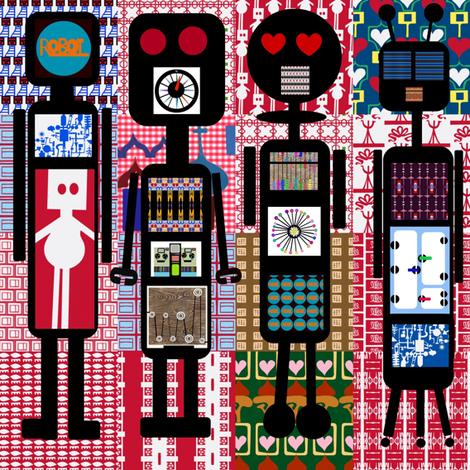 Robot Cheater fabric by boris_thumbkin on Spoonflower - custom fabric