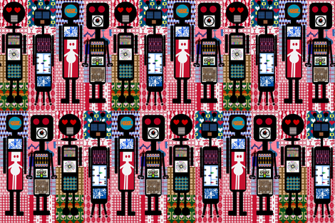 Robot Cheater fabric by boris_thumbkin on Spoonflower - custom fabric