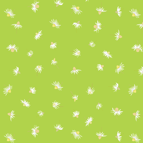 chamomilla_green fabric by katarina on Spoonflower - custom fabric