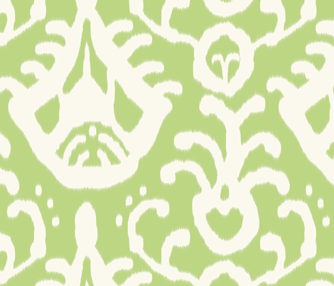 pear_ikat fabric by domesticate on Spoonflower - custom fabric