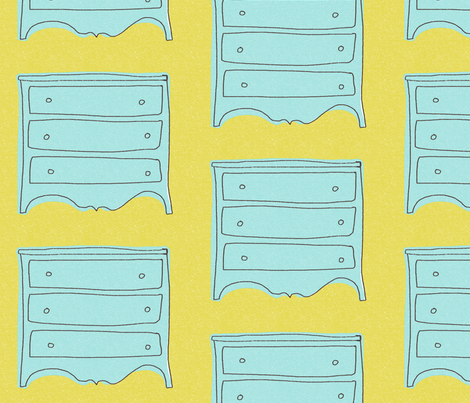 my lovely blue dresser  fabric by mummysam on Spoonflower - custom fabric