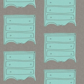 my lovely blue dresser