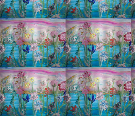Flower Power fabric by myartself on Spoonflower - custom fabric