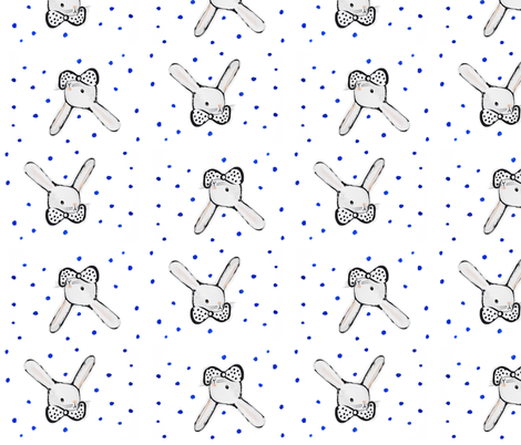 bunny-dots fabric by weegallery on Spoonflower - custom fabric