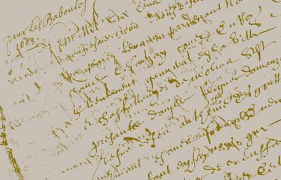 French Script, linen color