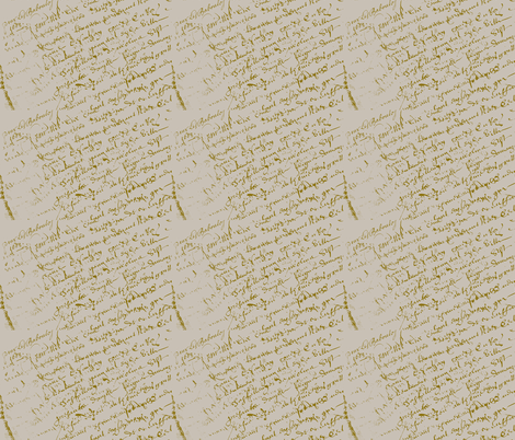French Script, linen color fabric by karenharveycox on Spoonflower - custom fabric