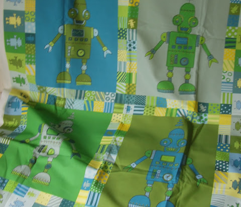 Snoozebot Robot - cheater quilt