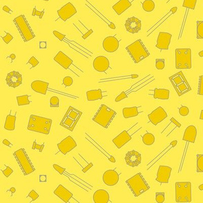 yellow electronic components