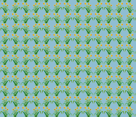 Daffodils fabric by amyelyse on Spoonflower - custom fabric