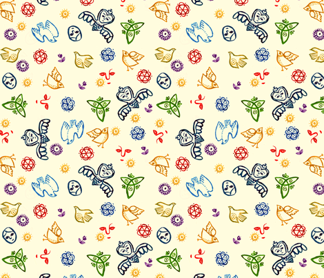 Folks fabric by narthex on Spoonflower - custom fabric
