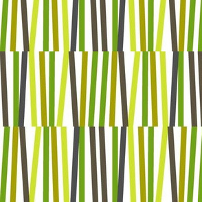 Washi Tape Strips (Green) || stripes sticks lines matches stripe bamboo stems grass