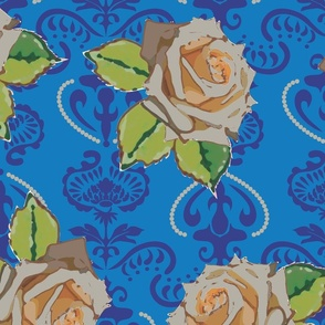 milky_rose_damask_dark_blue