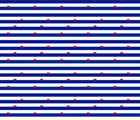 Navy_Red02_150dpi fabric by curlywillowco on Spoonflower - custom fabric