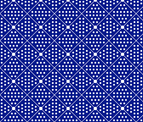Navy dots and diamonds fabric by curlywillowco on Spoonflower - custom fabric
