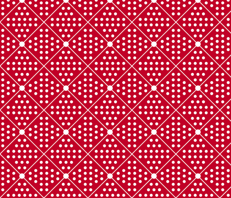 Retro Red Fun fabric by curlywillowco on Spoonflower - custom fabric